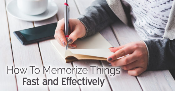 How to memorize things